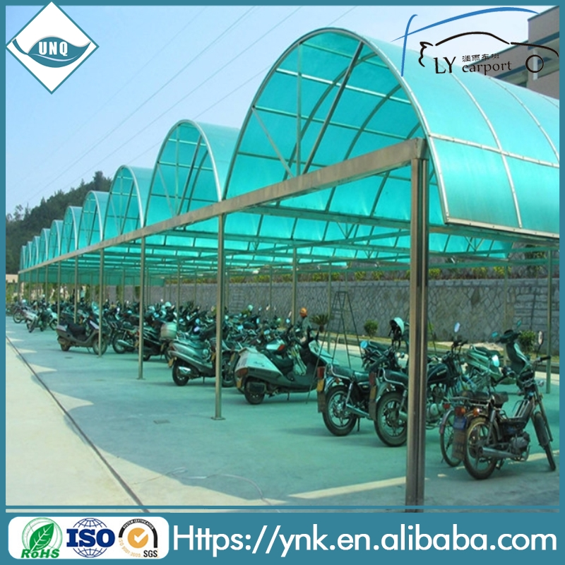 10 years warranty fireproof high quality polycarbonate covering carport canopy