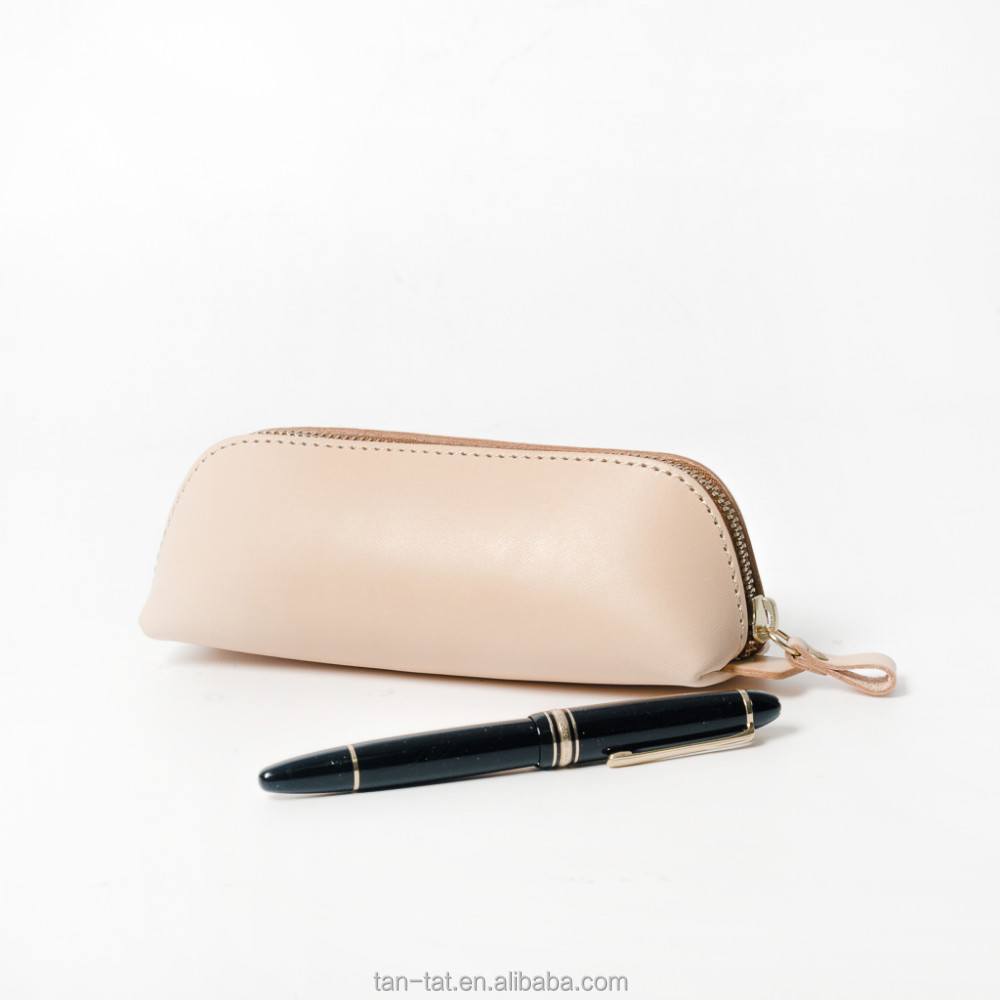 High Quality Wholesale Genuine Leather Custom Pencil Case
