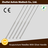 Repeatuable Acupuncture Needles with Silver Handle