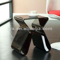 Lexmod Acrylic end table with magazine rack