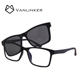New Models Blue And Smoke Colors Polarized Magnetic Clip On Sunglasses For Fishing Driving Traveling