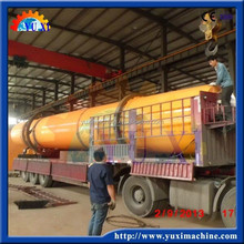 Rotary cylinder drum dryer with compact structure