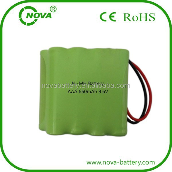 ni mh aaa 9.6v 650mah nimh rechargeable battery pack