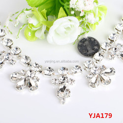 Wholesale online shopping AAA-Grade Rhinestone chain Trimming for Wedding dress rhinestone appliques