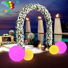 RGB color change solar glow balls led floating pool decorations balls of light for outdoor