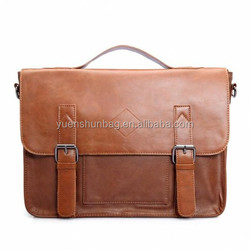 Pu Leather Briefcase, Briefcase Leather , Shoulder Business Laptop Messenger Bags Tote (Free sample )