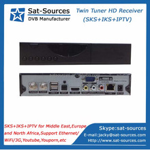 Twin Protocol Receiver with SKS IKS IPTV for Middle East North Africa Europe