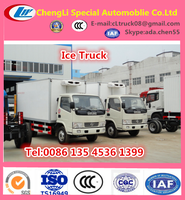 frozen food refrigerator truck, 5T to 8 tons refrigerator truck,5ton ice van truck