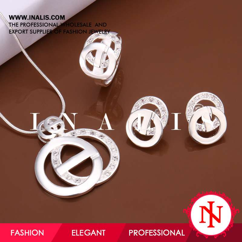 Stylish silver plated alibaba in spanish jewelry S492