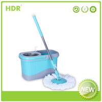 HDR-M017B bucket mop 360 degree Spin Magic eco-friendly mop,Hand Press With Wringer Mop Bucket