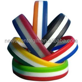 Cheap Customized Layer Silicone Wristband