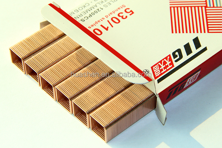 ISO9001 Manufacuture Export 53 Series Copper Staples