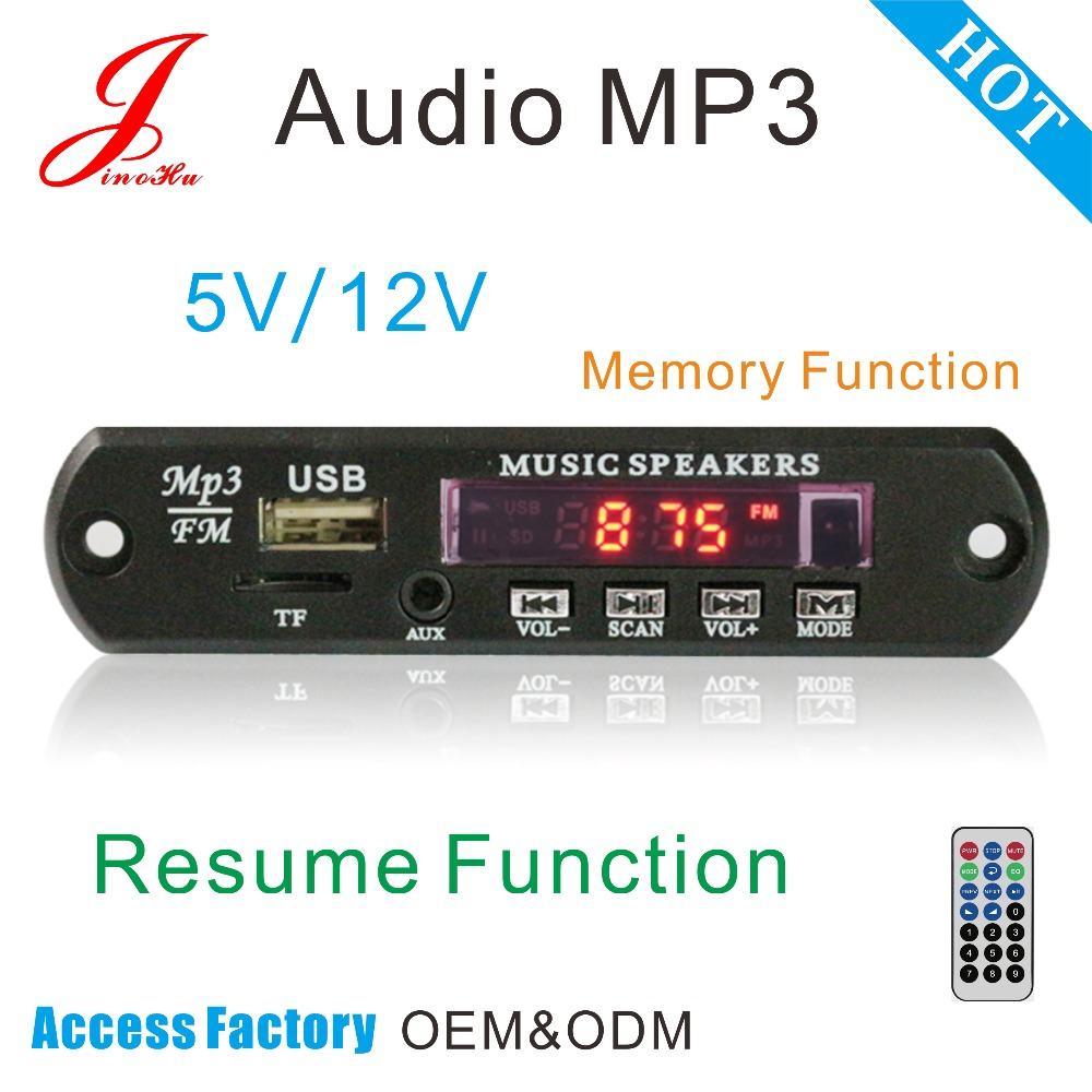 Hot sale fm Radio usb sd Card mp3 Player aux Decoder Circuit Board For China, jlh High Quality Audio Receiver pcb Board
