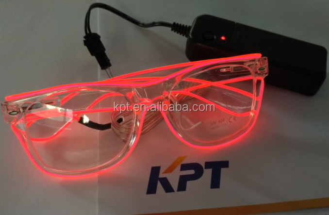 EL Light up party/rave party/event flashing neon glasses,wedding glasses,stage play glowing glasses