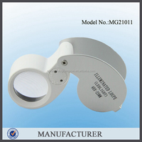 MG21011,jewelry loupe led working pocket magnifier