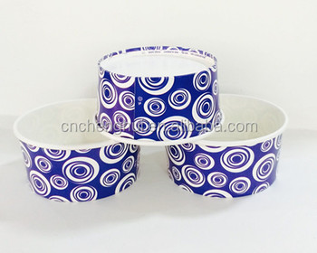 disposable paper bowl for ice cream /juice drink container