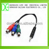 High quality y splitter audio adapter rca cable with 3 rca jack