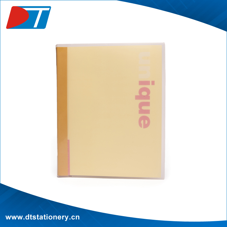 Stationery Supplier Plastic File Pockets Folder With Clips