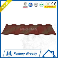 Nuoran Low Price Metal Aluminum Steel Curved Corrugated Roof Panel/Stone Chip Roof Tile Maufacturer