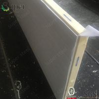 China Color Coated Polyurethane Foam Wall Panel Thick 100mm for Cold Room