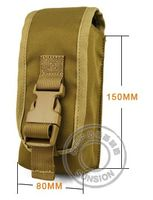 Tactical Molle Radio Pouch with Nylon SGS and ISO standard for tactical with Four Ply Nylon Thread Stitched