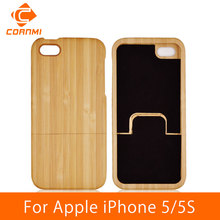 CORNMI Wood Real Bamboo Mobile Phone Capa Covers Cases for iPhone 5 S 5S