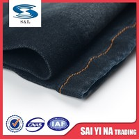 Blue crude twill stock denim fabric knitted denim