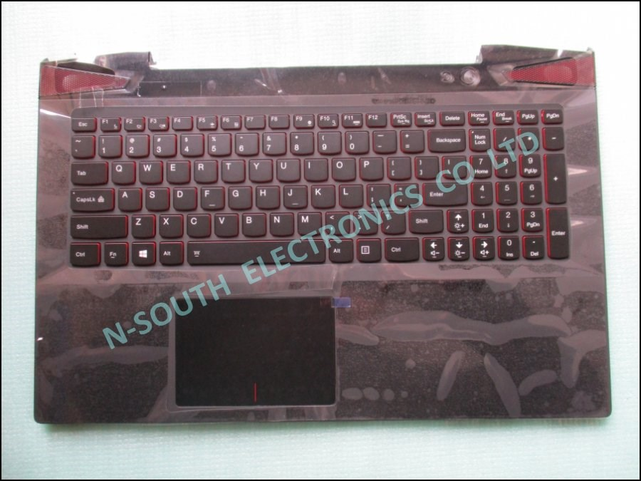 Hotsale laptop palmrest top cover for lenovo y50-70 with keyboard us ap14r000a00