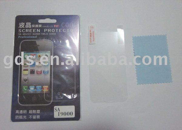 mobile phone lcd screen protector for samung i9000 lcd screen protector