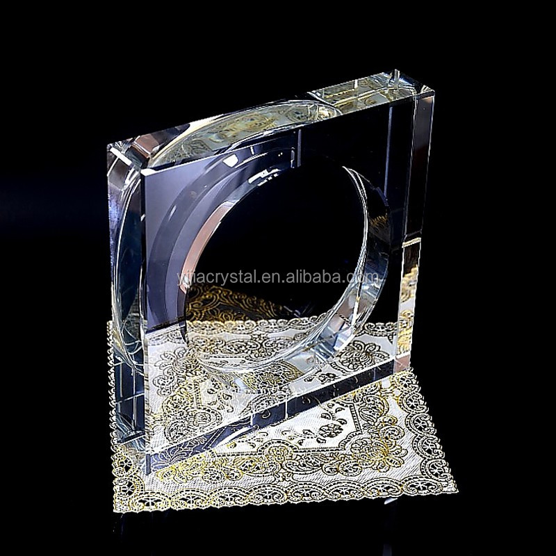 2018 personalized fashion square crystal ashtray
