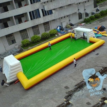 cheapest price inflatable soap football field for sale