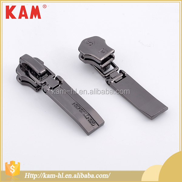 Eco-friendly custom garment metal locking zipper pull