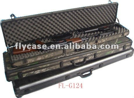 2013 new design best quality silver aluminium gun case ,size 430*330*142MM