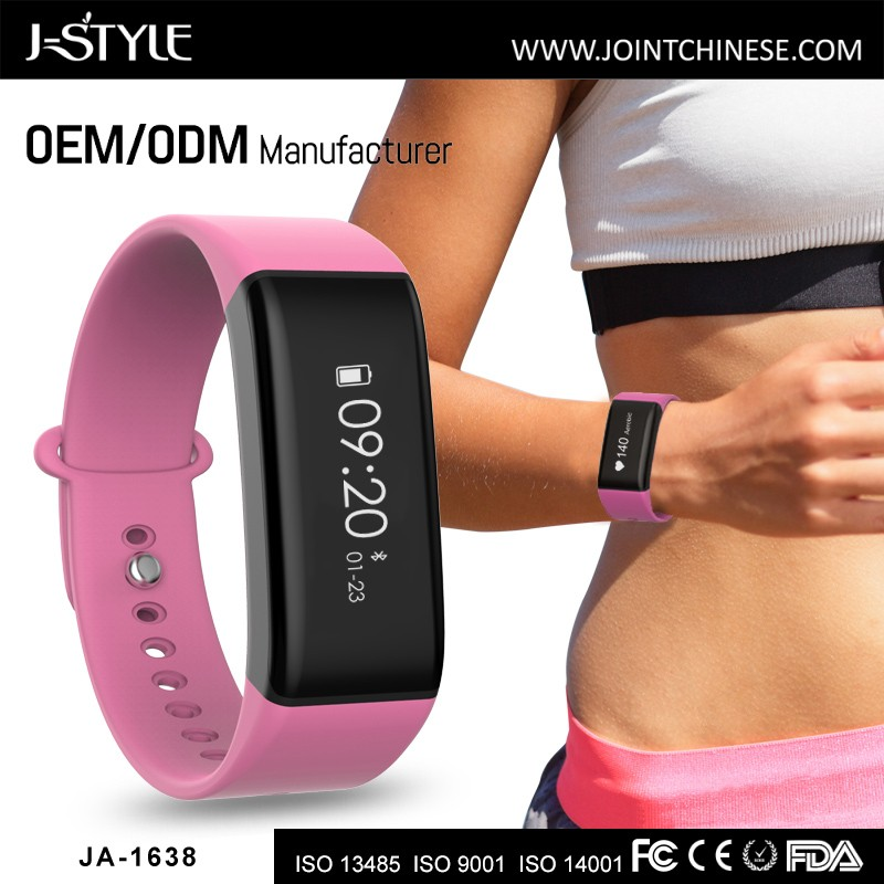 J-style Walking 3D Pedometer ,Activity Fitness Tracker Heart Rate fitband White Blue Black