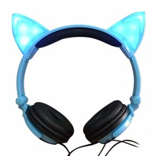 2017 best selling products brand name led light get free sample cat ear headphones