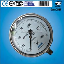 "CE 300PSI dial 6""150mm stainless steel bourdon tube lpg pressure gauge manufacturer"