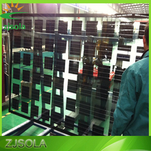ZJSOLA BIPV solar panel glass facade for building double glass transparent panel