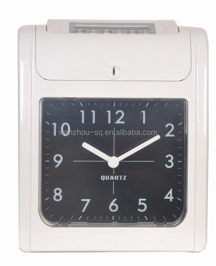 Clock Display Punch Card Time Recorder Attendence Management