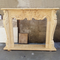 Antique louis-xv-style fireplace stone carving marble fireplace