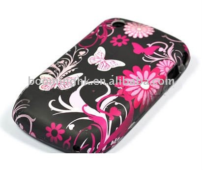 for new black berry 8520 silicon flower case