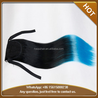 Ombre Color Synthetic Hair Long Straight Claw Clip in Ponytail Synthetic Ponytail