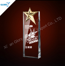 2016 Wholesale New design crystal star awards and trophies