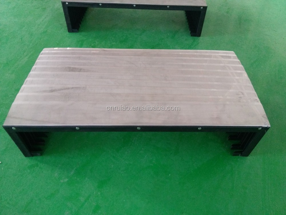 machine bellows protection telescopic cover for slideways steel accordion cover
