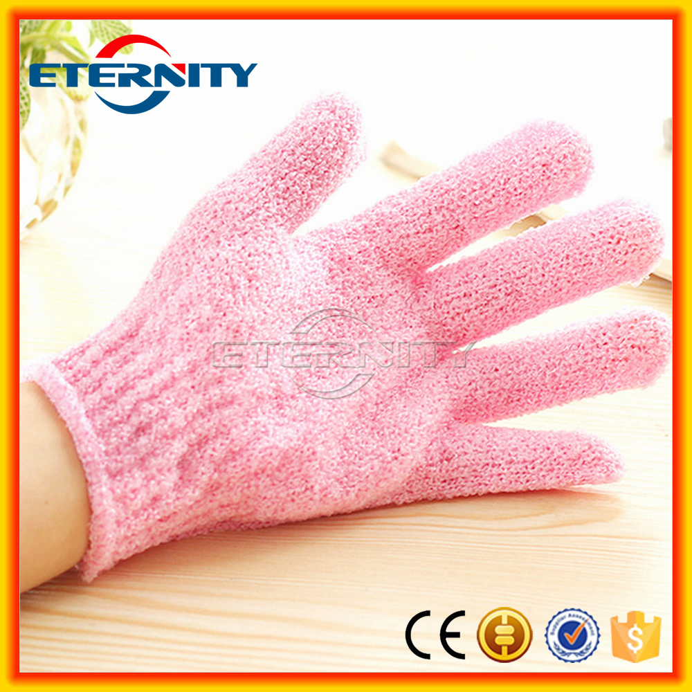 High Quality Customized Bath Nylon Exfoliating Gloves