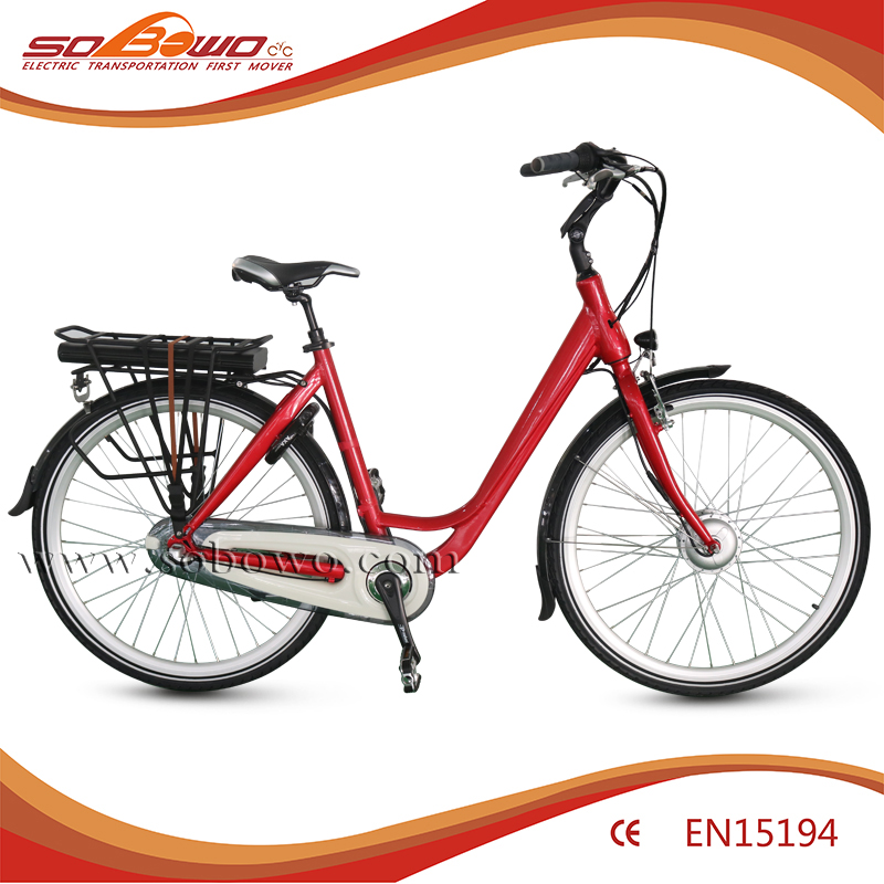 classic european city electric bicycle 250W rear rack battery commuter unisex electric vehicles