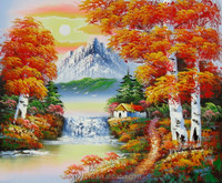 Guangzhou Manufacturer directly offer landscape images oil painting