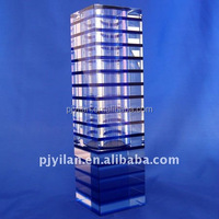 stereoscopic glass vase 260 mm Mosaics glass crystal vase
