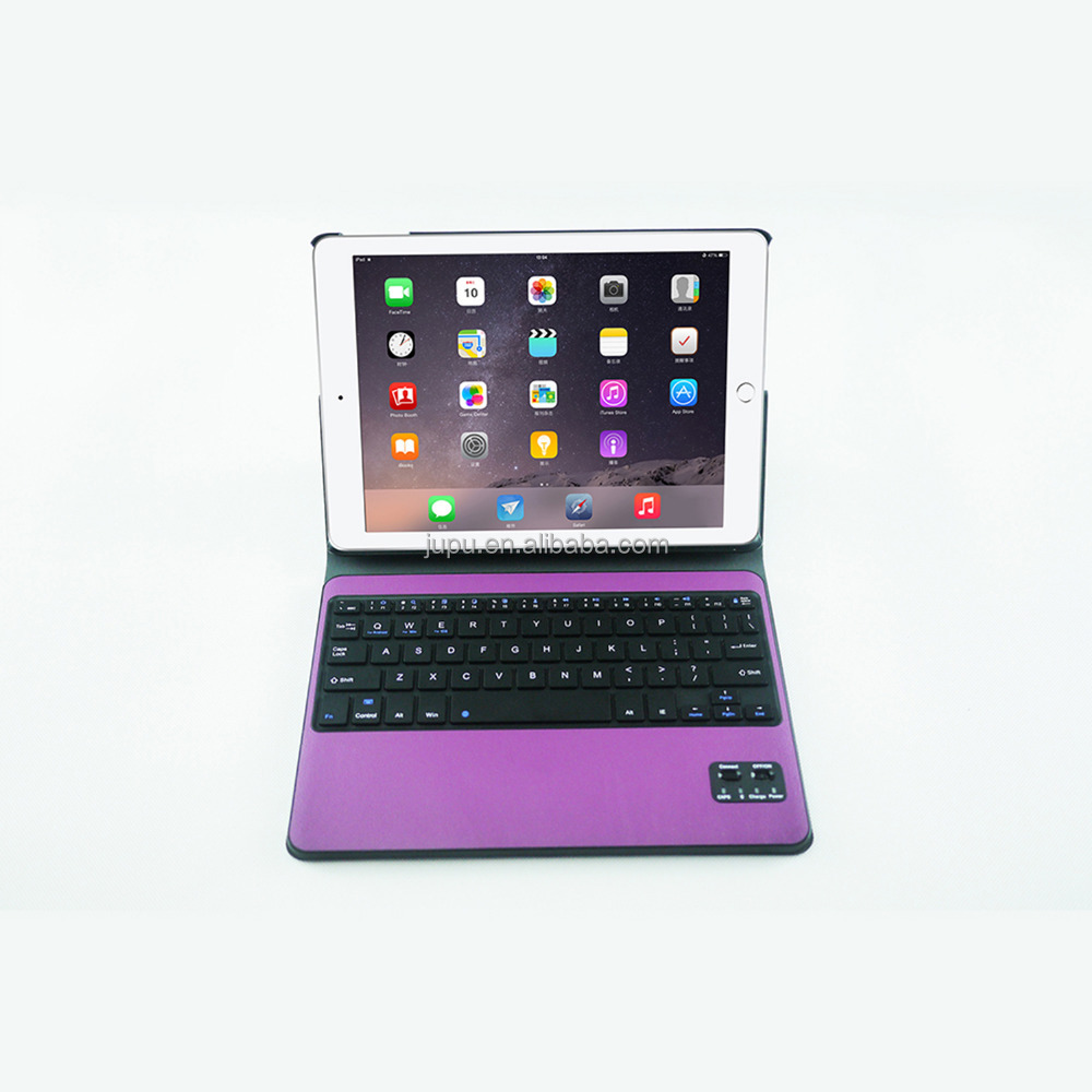"2017 Hotsell Wireless Bluetooth Keyboard For iPad Pro 10.5"" keyboard 2in1 leather case/cover(Purple )"
