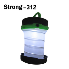 Outdoor small lantern plastic portable AA battery folding LED camping light