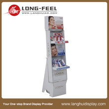 Latest arrival Makeup Case cardboard floor display rack/ display stand